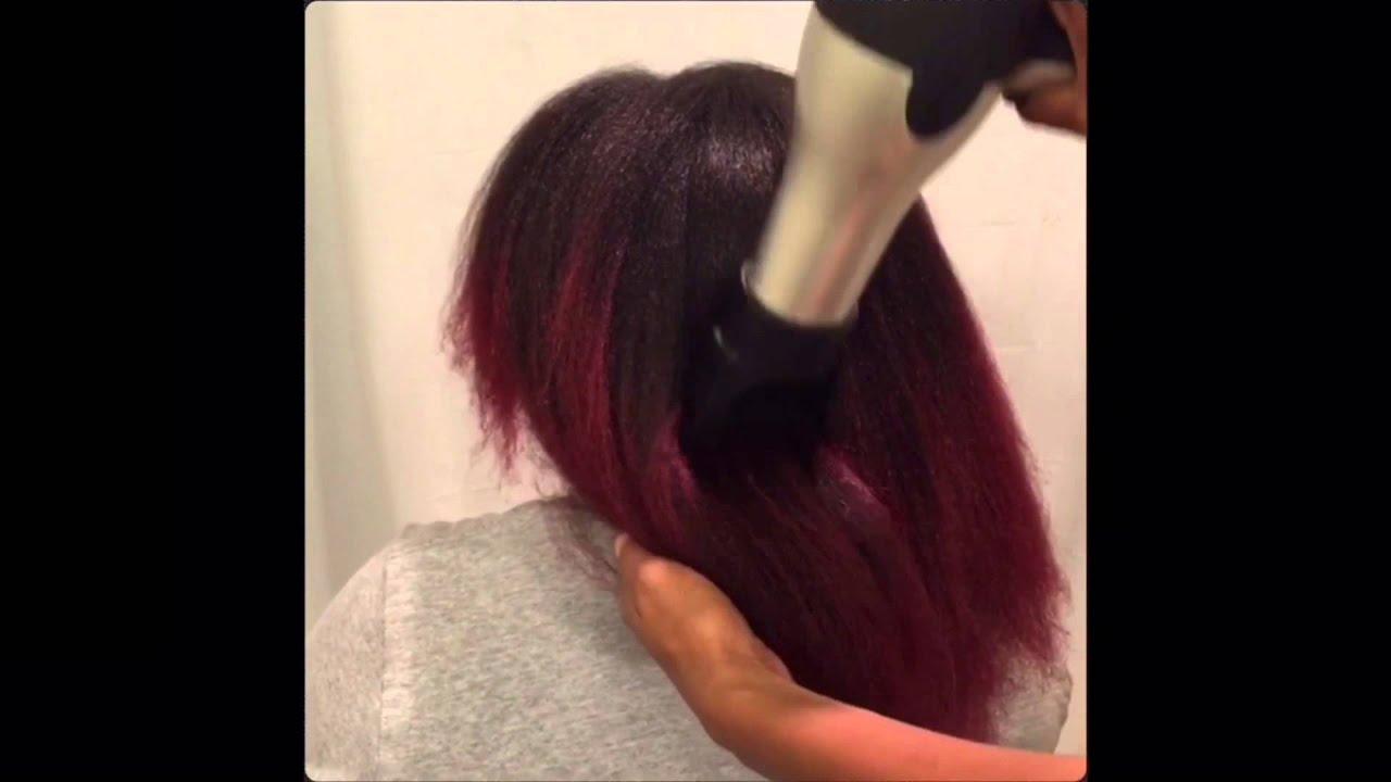 Straighten Natural Hair No Heat Damage