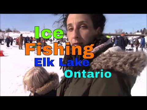 Ice Fishing At The Elk Lake Ontario Fishing Derby 2019