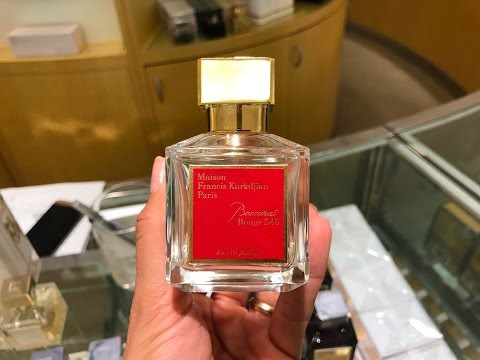 Perfume Baccarat Rouge 540 Youtube
