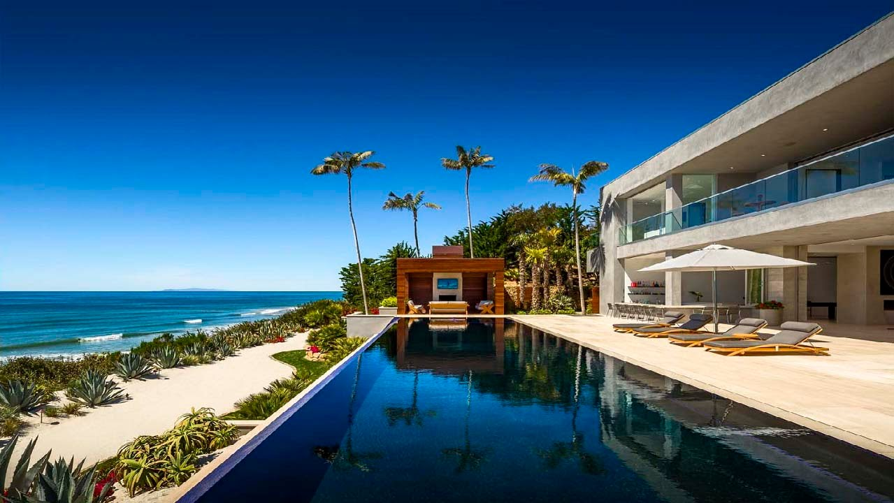 inside a rare beachfront mansion in malibu youtube