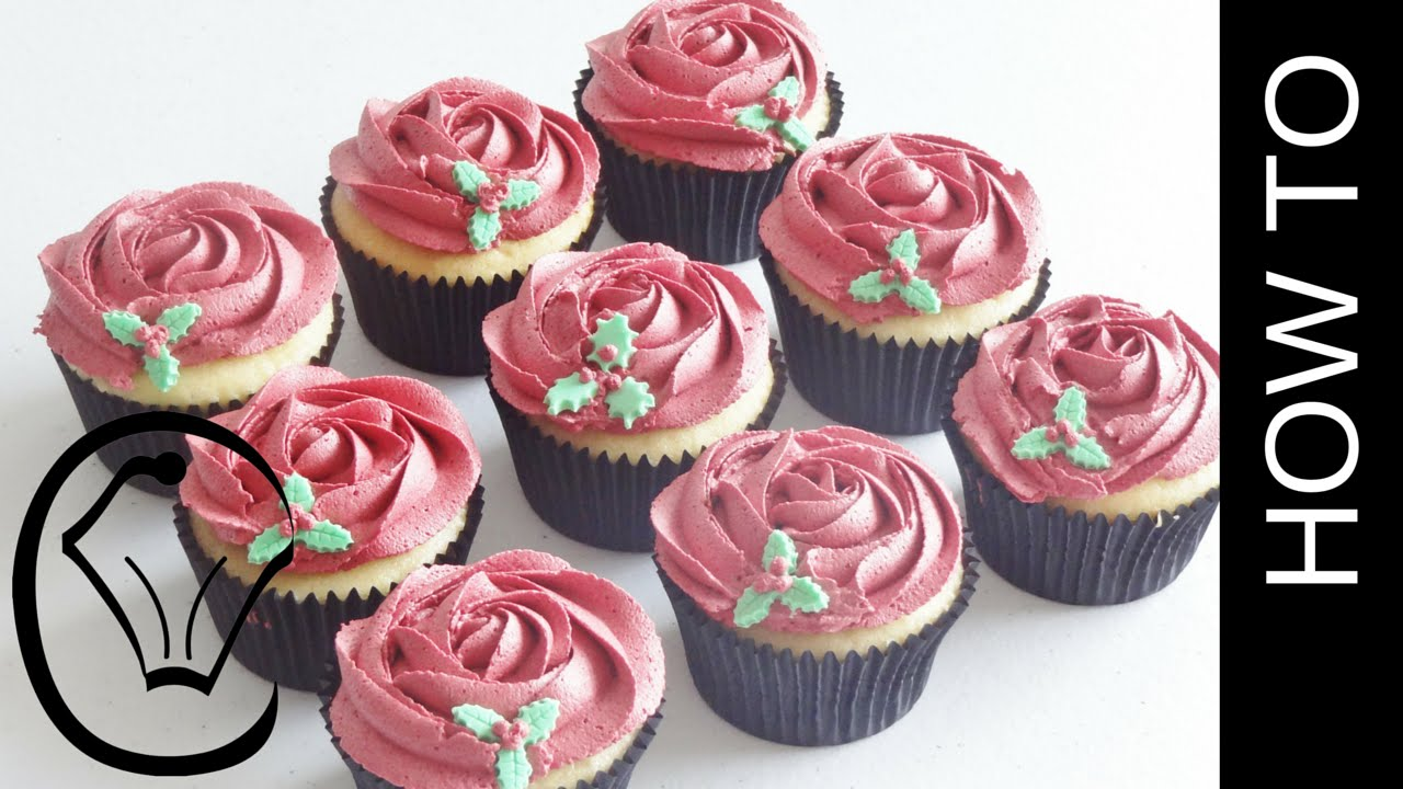 how to make rose cupcakes