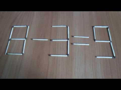 Интересная головоломка со спичками - Жираф
