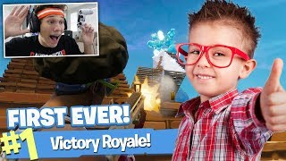 GETTING LITTLE KID SEINE ERSTE ALLE FORTNITE WIN!!!