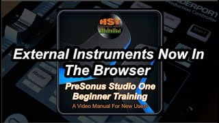 External Instruments Now In The Browser - PreSonus Studio One Beginner Training
