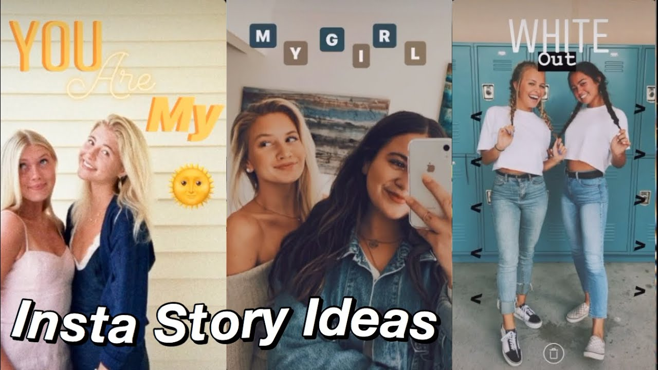 20 Instagram Story Ideas for 20 with friends