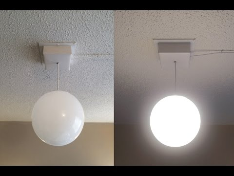 DIY Plug-in Ceiling Light Fixture - YouTube