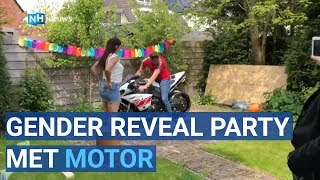Gender reveal party met motor