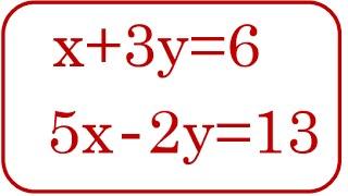 Sistema de ecuaciones Por método sustitución - [RiveraMath]