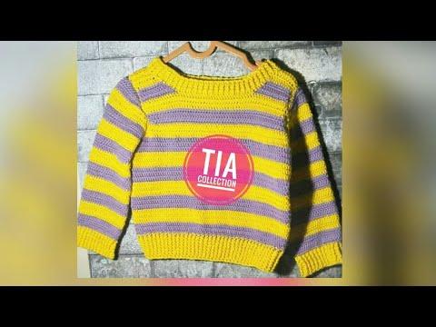 Tutorial Sweater Baby Rajut Part 1