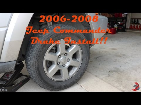 2006-2008 Jeep Commander Brake rotor/pad replacement. DIY