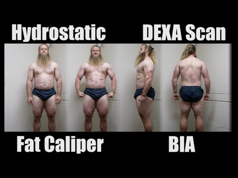 BODY FAT TEST Comparison: Hydrostatic, Skin Fold, DEXA Scan, BIA