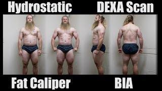 BODY FAT TEST Comparison: Hydrostatic, Skin Fold, DEXA Scan, BIA