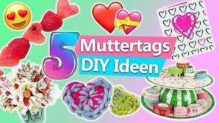 Muttertagsgeschenke 5 MUTTERTAG DIY IDEEN zum selber machen Muttertagskarte basteln, Foto Deko, Herz