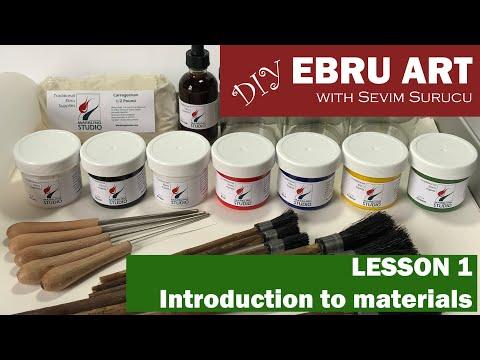 DIY Ebru Art / Marbling Art with Sevim Surucu - Lesson 1 - Introduction to Materials