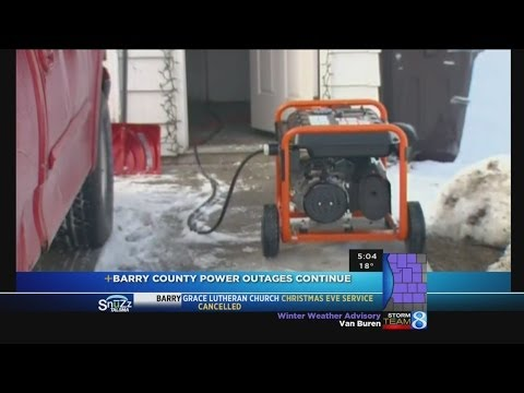 Barry County residents spend Christmas Eve without power