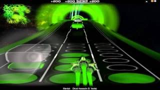 Audiosurf: Maduk (ft. Veela)-Ghost Assassin (Ninja Mono-Hard) | HD-Lyrics/Letra