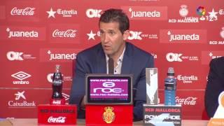 Rueda de prensa de Juan Merino tras el RCD Mallorca vs Nàstic (0-0)