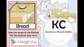 Upsidedown Rhubarb Muffins - Kitchen Cat