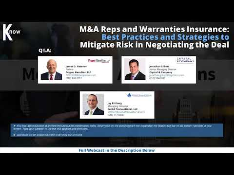 M&A Reps and Warranties Insurance