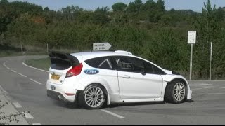 Tarmac rally test elfyn evans and daniel barritt with ford fiesta rs wrc m-sport pre rallyracc catalunya costa daurada - spain 2014 video by jaume soler