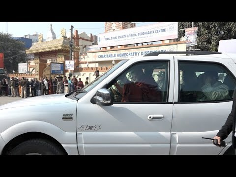 His Holiness leaves from Bodh Gaya for a brief visit to Pune