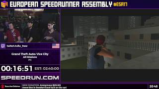 #ESA17 Speedruns - Grand Theft Auto: Vice City [All Missions] by KZ_FREW