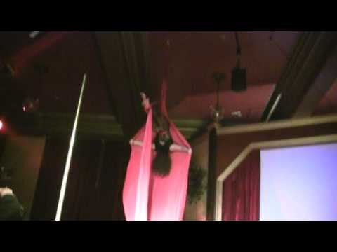 Night Of Kink Aerial Silk Performance March 2012 featuring Miss Krystaal Rain