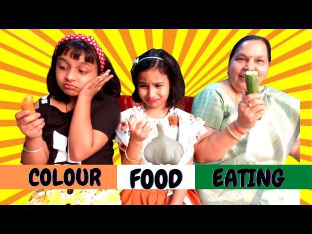 Color food eating challenge | #LearnWithPari #learnwithpriyanshi
