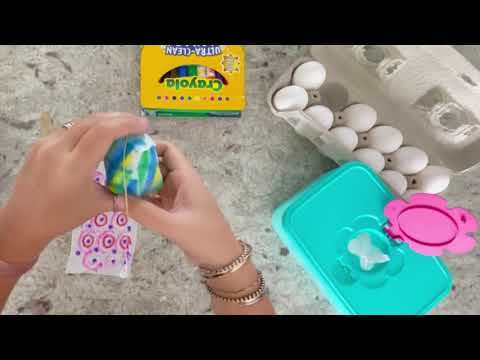 Easter Egg Dye with Baby Wipes & Markers