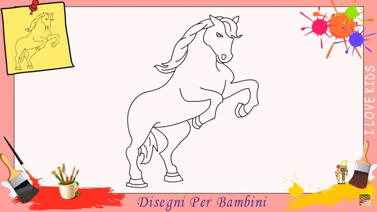 disegni di cavallo come disegnare un cavallo facile