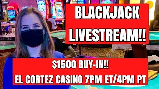 LIVE: BLACKJACK!! $1500 Buy-in!! Let's g๐ on a lucky run!! Aug 12 2020