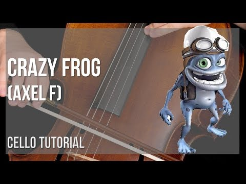 How to play Crazy Frog (Axel F) by Harold Faltermeyer on Cello (Tutorial)