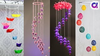 5 Awesome Paper Ceiling Hanging Craft Ideas | Diy Room Decor | Artkala