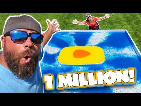 1 Million Subscribers Giant One Million Orbeez YouTube Gold Play Button Water Wubble Bubble!!