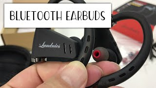 Video $10 Bluetooth Wireless Sport Headphone Earbuds with Microphone by Landnics Review download MP3, 3GP, MP4, WEBM, AVI, FLV Juli 2018