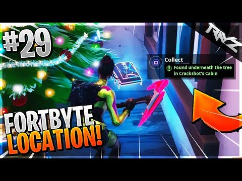 Fortbyte #29 Location | Found Underneath The Tree In Crackshot's Cabin (Fortnite Guide)