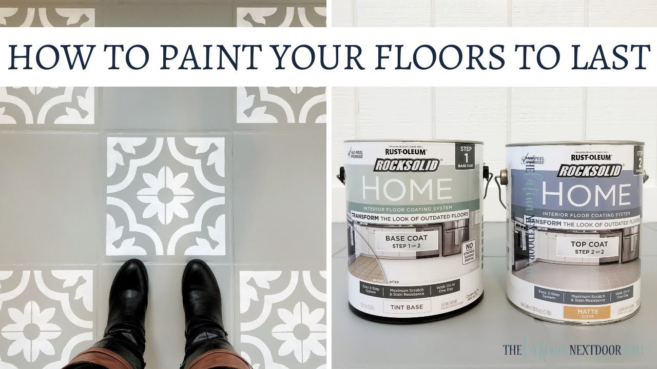 how to paint your floors to last rocksolid home by rust oleum