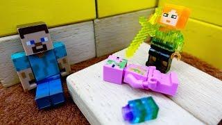 Видео игрушки #майнкрафт. Стив и ИгроБой: приключения продолжаются! Спасаем кристалл от свинозомби