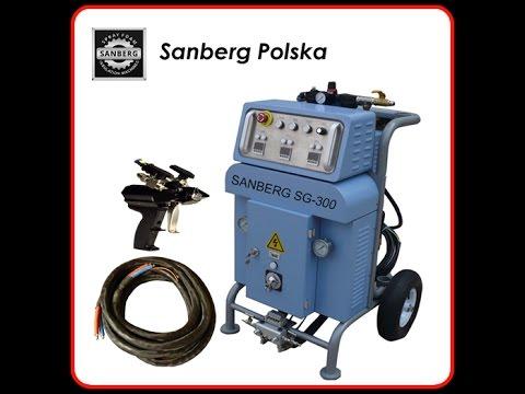 Najnowsze Sanberg SG-300 maszyna do natrysku pianki poliuretanowej, agregat XT24