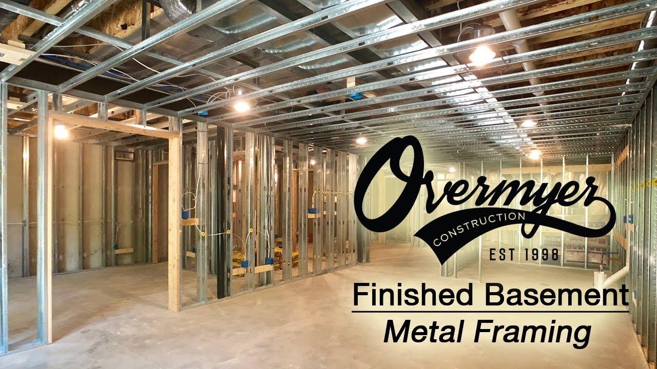 Using Metal Framing In Your Finished Basement Novi