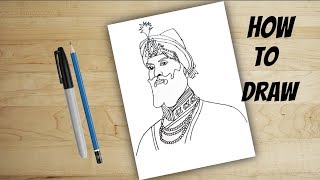 how to draw Guru Gobind Singh |ਗੁਰੂ ਗੋਬਿੰਦ ਸਿੰਘ | drawing for kids- Guru gobind singh ji birthday