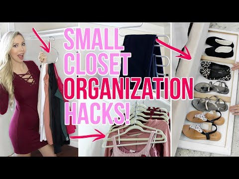 SMALL CLOSET ORGANIZATION HACKS!