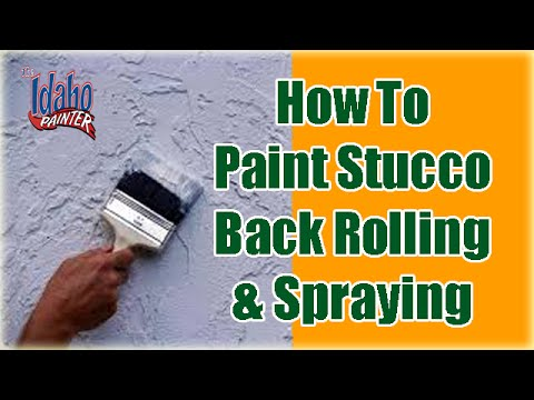 How to paint stucco. The Best Way To Paint Stucco. How to paint a ...