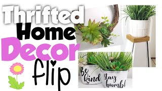 Thrifted home decor flip | Thrift store makeovers | DIY thrifted home decor