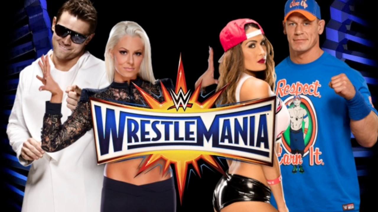 Image result for John Cena & Nikki Bella vs The Miz & Maryse at WrestleMania 33
