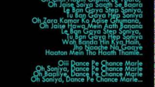 Dance Pe Chance KARAOKE With Lyrics