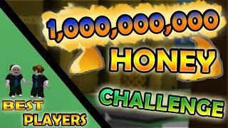 *OP 1 BILLION HONEY CHALLENGE!!!* (part 1.) *OP BEE*! - Roblox bee swarm simulator