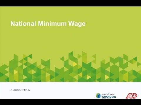 ADP Webinar: Minimum Wage - What you need to know