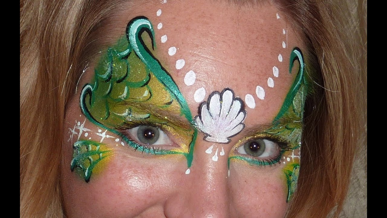 Mermaid Face Painting Cheek Art
