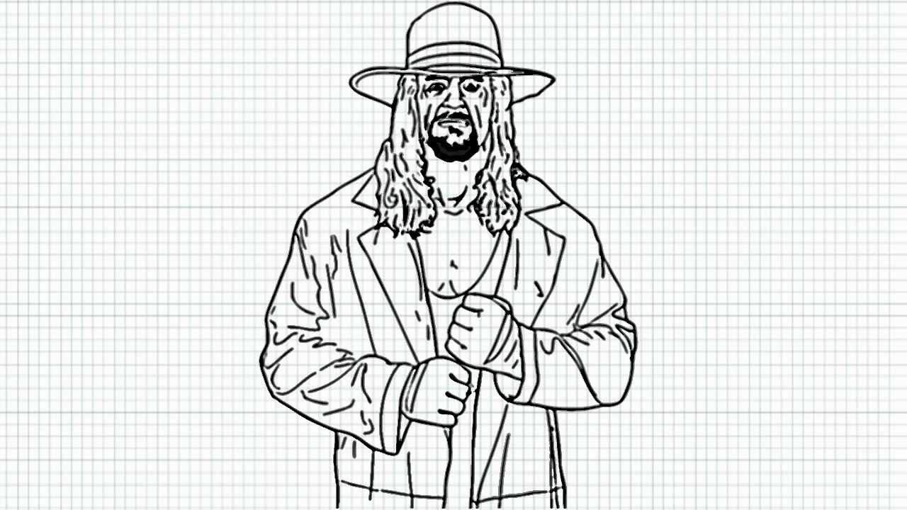 Uncategorized How To Draw The Undertaker the undertaker how to draw video deadman from wwe youtube